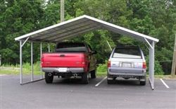 The 24x21 Boxed Eave Style Metal Carport In Fl The Steel Carports Are Delivered And Installed On Your Level Land In Flor In 2020 Steel Carports Metal Carports Carport
