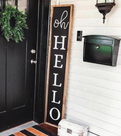 Porch Wall Decor, Diy Porch, Diy Front Porch, Porch Remodel, Front Porch Decorating, Porch Signs, Front Door Signs, Porch Wood, Farmhouse Signs