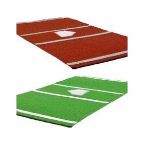 New Cimarron Pro 7X12 Nylon Baseball Home Plate Mat Green