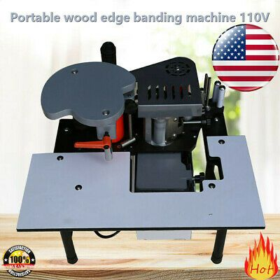 Details About Portable Woodworking Edge Banding Machine 0 3 3mm Thick Bevel 10 60mm Width Woodworking Metal Working Things To Sell
