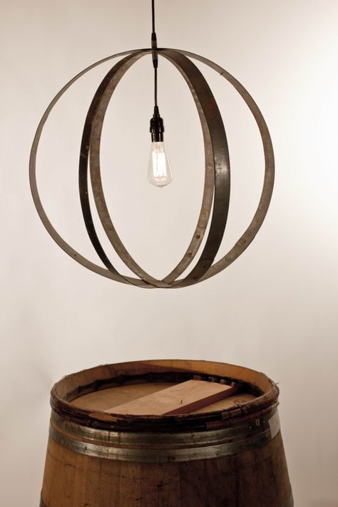Barrel Ring Light Fixtures Diy Project | 21 Ways to Reuse A Barrel On Your Homestead | Awesome DIY Projects for your Home by Pioneer Settler at http://pioneersettler.com/wine-barrel-ideas/