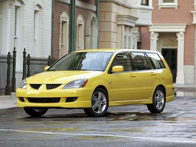 Mitsubishi Lancer Sportback Ralliart 2003  2005 yellow car
