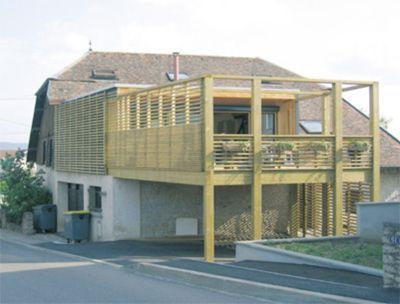 Terrasse pilotis - Bois et Passion plan design Pinterest - terrasse en bois suspendue prix