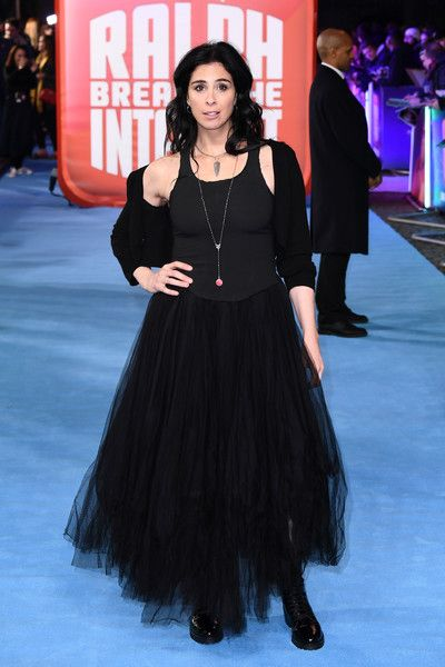Sarah Silverman.attends the European Premiere of 'Ralph Breaks The Internet' at The Curzon Mayfair.