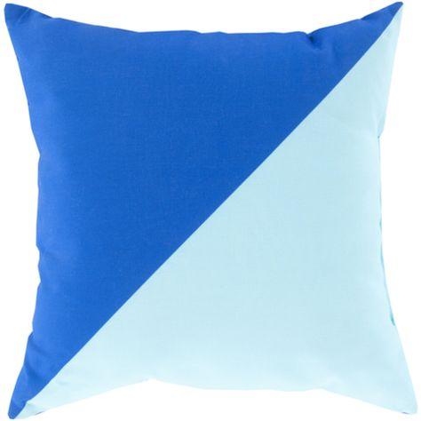 Cobalt And Light Blue Outdoor Pillow