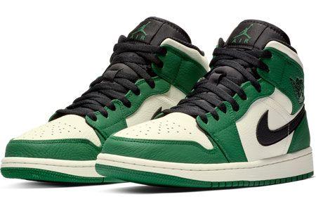 Jordan 1 Mid Winterized schoenen groen e zwart   Air jordan ...