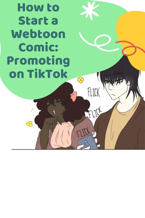 How To Start A Webtoon Comic Promoting On Tiktok Comic Tutorial Webtoon Comics Webtoon
