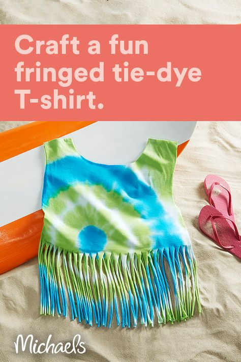 Tie Dye Fringe T-Shirt