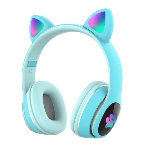 Wireless Cat Headphones, Gamer Setup, Noise Cancelling, Sd Card, Body Wash, Pro Version, 9 Hours, Charging Cable, Cat Ears