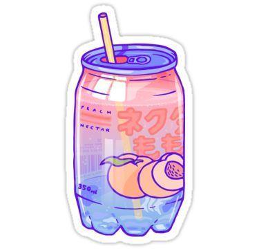 Peach Bubbles Sticker Anime Stickers Bubble Stickers Tumblr Stickers