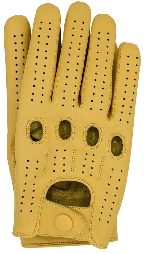 Riparo Men/'s Genuine Leather Full-Finger Driving Gloves Camel
