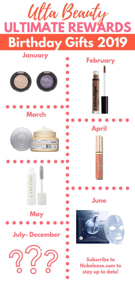 Your Free Ulta Beauty Birthday Gift 2019 By Month Birthday Gifts