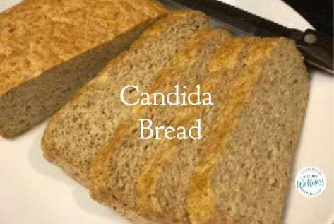 Coconut & Flaxseed - This Candida Bread recipe will get you through when you don't think you'll last another five minutes on a therapeutic diet. Anti Candida Recipes, Anti Candida Diet, Candida Cleanse, Coconut Bread Recipe, Gluten Free Bread Recipe No Yeast, Candida Diet Breakfast, Yeast Free Breads, No Bread Diet, Healthy Recipes