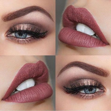 The perfect makeup palette for a fall wedding #makeup #fall #bride #wedding #mauve #fall wedding makeup