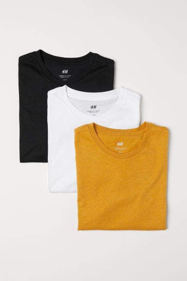 3 Pack Regular Fit T Shirts Yellow Multicolored Men H M Us Photography Shirts Clothing Photography Picnic Outfits
