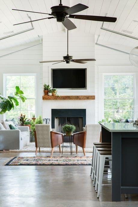 The Best Sleek And Modern Ceiling Fans Farm House Living Room Open Living Room Design Living Room Fans
