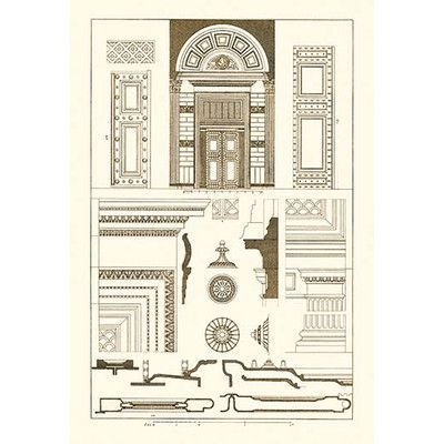 Buyenlarge Doorway Of The Pantheon At Rome By J Buhlmann Graphic Art Architecture Drawing Renaissance Architecture The Panthéon
