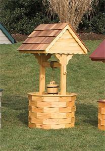Wishing Well Plan #WoodworkingProjects | Borssuk Pet | Pinterest ...