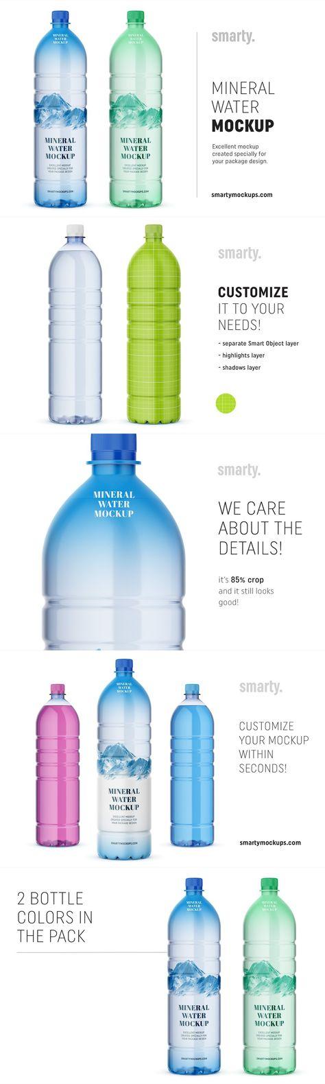 Mineral water bottle mockup