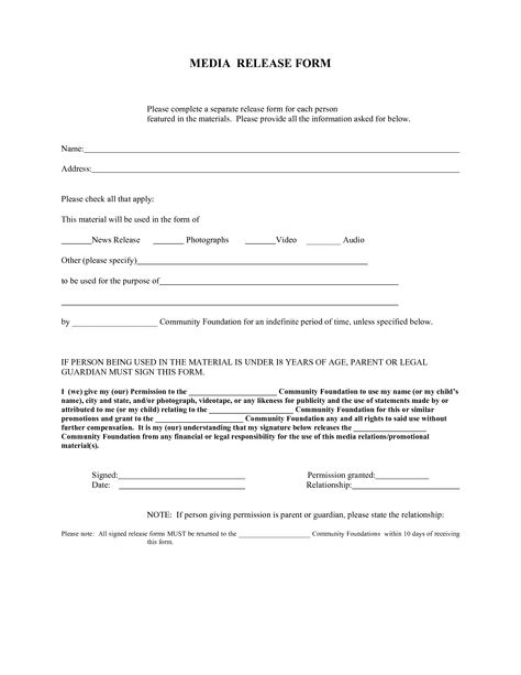 Release Forms