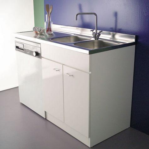 Mobile sottolavello cucina porta lavatrice/lavastoviglie 135 ...