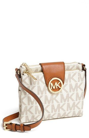 87321b5b7147 MICHAEL Michael Kors 'Fulton - Large' Crossbody Bag available at #Nordstrom  - In Brown, not vanilla