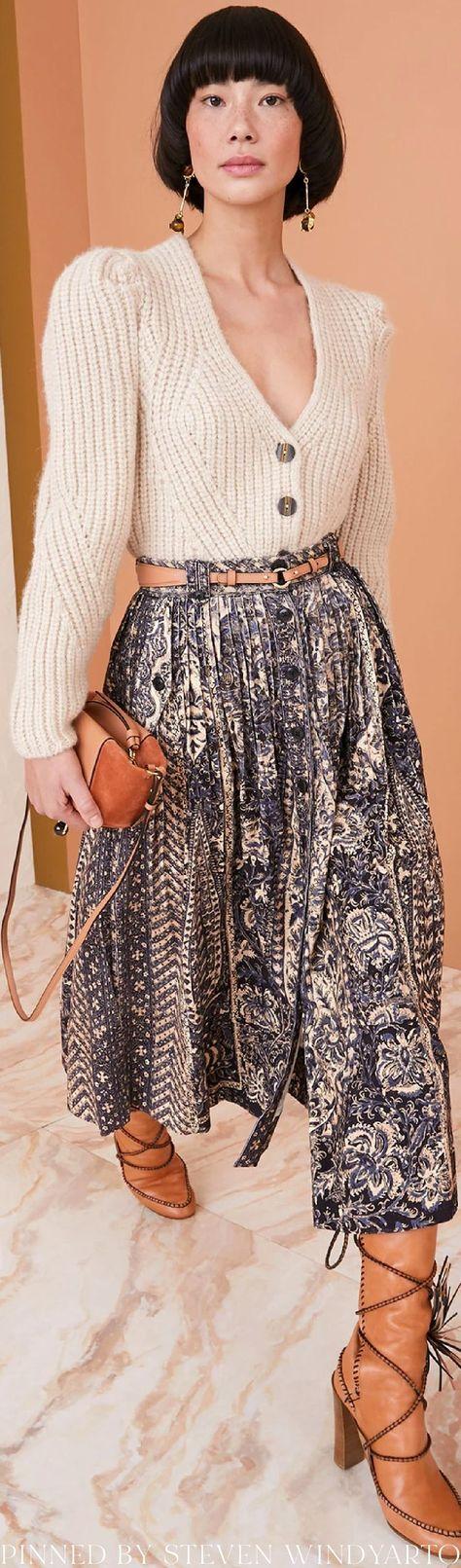 Ulla Johnson Fall 2021 Lookbook - Greta Cardigan #fall2021 #fw21 #womenswear #ullajohnson