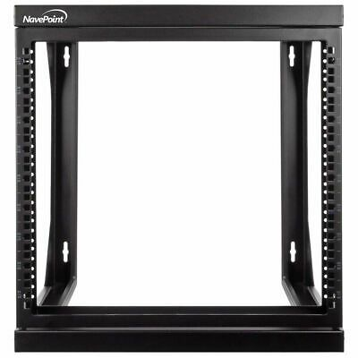 Ebay Link Ad Navepoint 9u Wall Mount It Open Frame 19 Network Rack With Swing Out Hinged In 2020 Open Frame Network Rack Wall Mount