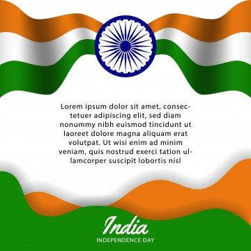 Happy India Independence Day Poster Template Flyer With Flag Wave And Wheel Party Republic Day Country Indian Tricolor Png And Vector With Transparent Backgr Republic Day Independence Day Poster Republic Day