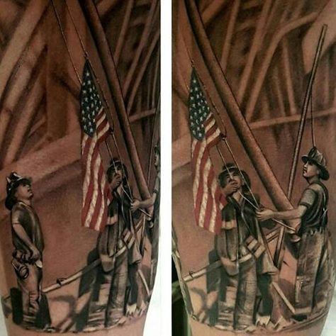 Tattoo Culture Magazine: Raising the Flag at Ground Zero tattoo by George Winterling @georgewinterlingtattoo #15years ...