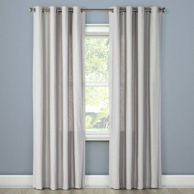 Natural Solid Light Filtering Curtain Panel Threshold Solid