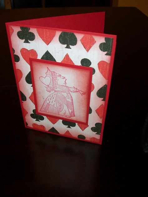 Queen Of Hearts Card The Red Queen Alice In Wonderland Blank Card