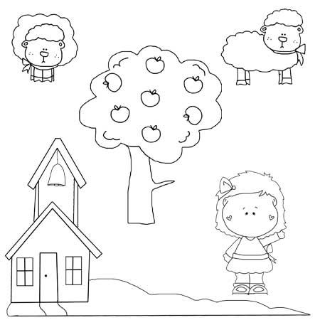 23++ Nursery rhymes clipart black and white info