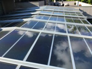 J House Retractable Skylight Manufactured By Roll A Cover Intl Skylight Roof Skylight Retractable Roof