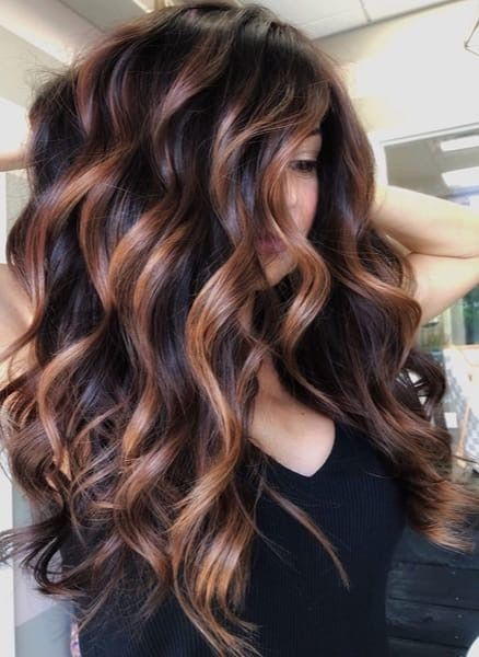 Dimensional Caramel Ribbons On A Level 4 Base Behindthechair Com In 2020 Brunette Balayage Hair Brunette Hair Color Balayage Hair