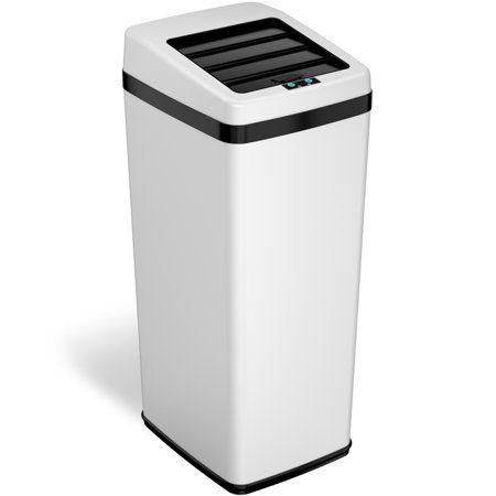Download Wallpaper Matte White Kitchen Trash Can