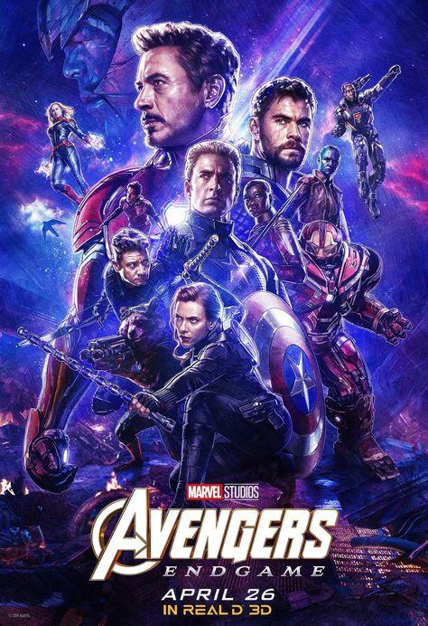Avengers: Endgame 2019 Real 3D poster Marvel comic movie quality print Avengers 4