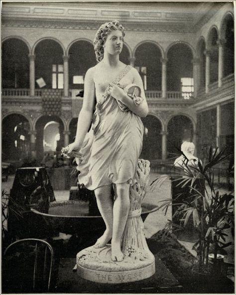1899 Print Virgin West Statue Womans Building 1893 Columbian Chicago Worlds