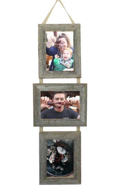 5x7 Three Barnwood Frames On Ribbon 2 Portrait And 1 Landscape Barn Wood Frames Barn Wood Picture Frames Reclaimed Barn Wood
