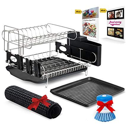 Customizable Two Tier Dish Rack Stainless Steel Professional