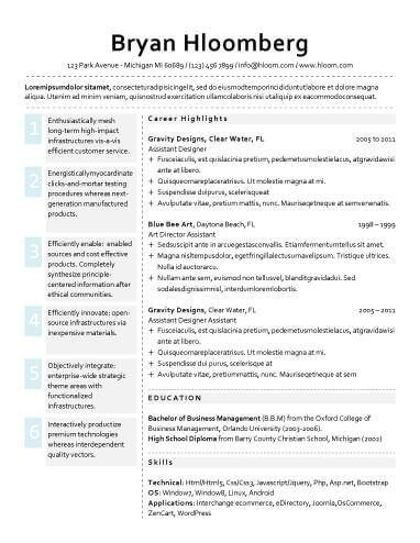 VIP - Free Resume Template by Hloom Good to know Pinterest - free resumes template