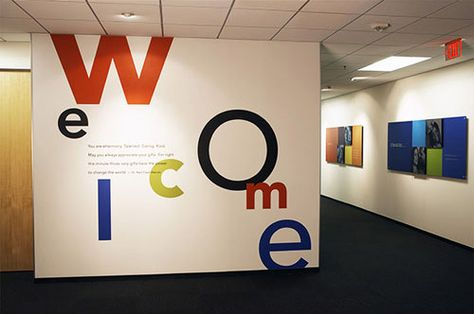 Environmental graphics and signage design for eHarmony's corporate office