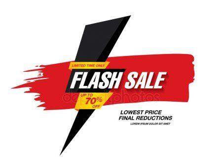 Flash Sale Banner Stock Vector Aff Sale Flash Banner Vector Ad Sale Banner Banner Banner Template Design