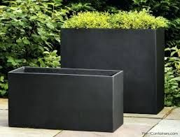 Diy Large Rectangular Concrete Planters In 2020 Rectangular Planters Outdoor Pots Planters
