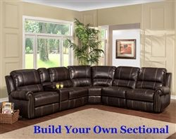 Webber Build Your Own Reclining Sectional In Sumatra Leatherette