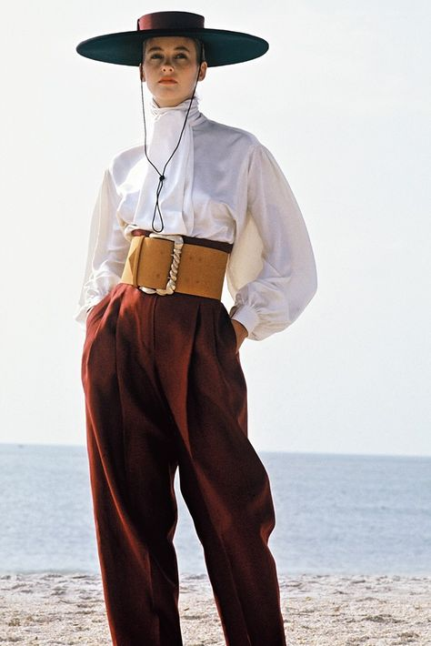 A Spanish-inspired look from Perry Ellis, spring 1983.