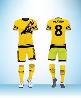Download Vetor De Modelo De Design Uniforme De Futebol Football Design Shop Logo Design Company Logo Design