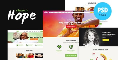 Hope PSD Template is a modern and vibrant Charity template for non-profit organizations. This beautiful template is the best choice for any contemporary charity company, NGO agency, crowdfunding bu... #donate #fundraiser #fundraising #ngo #nonprofit #themeforest #themerex #volunteer #charity #events #campaign #shop #nonprofit #responsive #donation #store #foundation