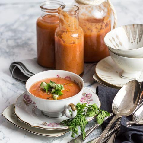 Gazpacho -Kalte Spanische Tomaten/Gemüse Suppe