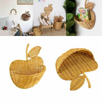 Natural Wicker Handmade Wall Mounted Hanging Basket Home Decor Organizer In 2020 Baskets On Wall Hanging Baskets Home Decor